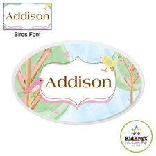 Personalized Birds Oval Wall Plaque