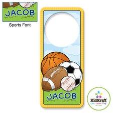 Personalized Sports Door Hanger