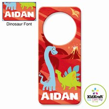 Personalized Dinosaur Red Door Hanger