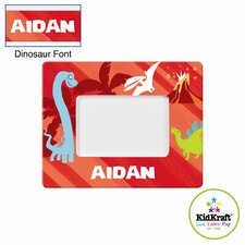 Personalized Dinosaur Red Frame