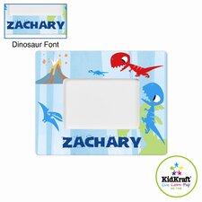 Personalized Dinosaur Blue Frame