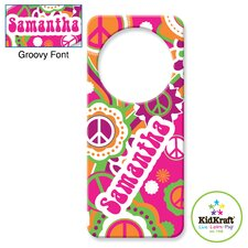 Personalized Groovy Door Hanger