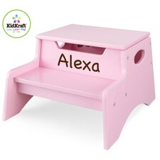 <strong>KidKraft</strong> Personalized Step N' Store Stool in Pink