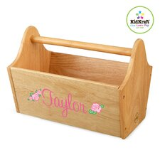 <strong>KidKraft</strong> Personalized Toy Box Caddy in Natural