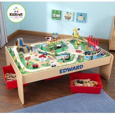 Personalized Waterfall Mountain Train Set and Table