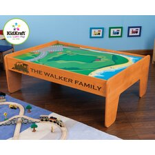 Personalized Train Table in Honey