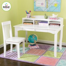 "<strong>KidKraft</strong> Avalon 39.25"" W Writing Desk with Hutch and Chair"