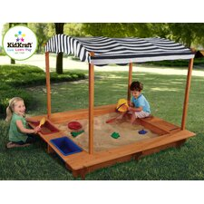 5' Rectangular Sandbox with Canopy and Cover