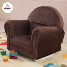 Personalized Chocolate Velour Rocker with Slip Cover