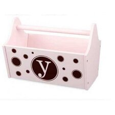 Personalized Toy Box Caddy in Petal Pink