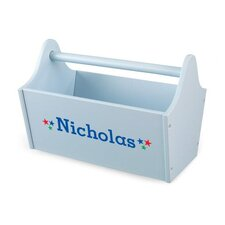Personalized Toy Box Caddy in Sky