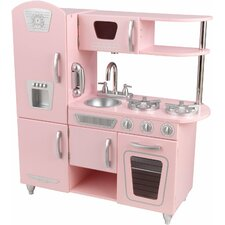 Pink vintage kitchen for Kitchen set for 1 year old