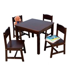 Farmhouse Kids' 5 Piece Table & Chair Set