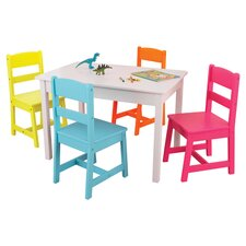 Highlighter Kids' 5 Piece Table & Chair Set