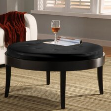 Citation Leather Cocktail Ottoman