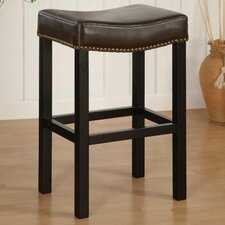 "Tudor 26"" Backless Leather Barstool"