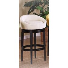 Igloo Microfiber Swivel Barstool in Cream