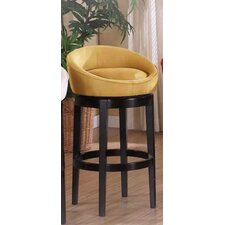 <strong>Armen Living</strong> Igloo Microfiber Swivel Barstool in Yellow