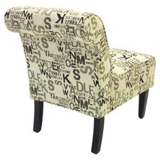 Modern Fabric Slipper Chair (Set of 2)
