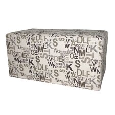 <strong>Armen Living</strong> Modern Alpha Letters Fabric Bedroom Ottoman