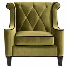 Barrister Velvet Arm Chair