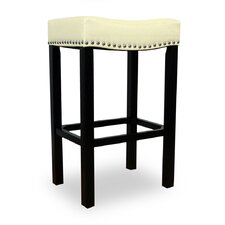 <strong>Armen Living</strong> Tudor Backless Leather Barstool