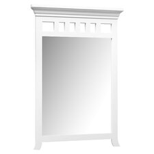 "24"" x 35"" Transitional Style Wood Framed Mirror"