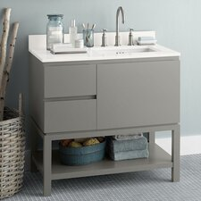 "Chloe 36"" Wood Cabinet Vanity Set"