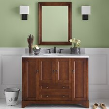 "Traditions Milano 49.6"" W Bathroom Colonial Cherry Vanity Set"