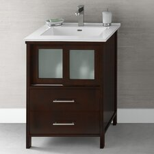 "Contempo Minerva 23"" W Wood Dark Cherry Vanity Set"