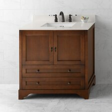 "Traditions Milano 36"" W Bathroom Colonial Cherry Vanity Set"