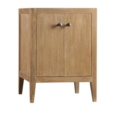 "Sophie 24"" W Wood Cabinet Vintage Honey Vanity Base"