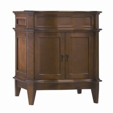 "Traditional Solerno 32"" W Standard Bathroom Café Walnut Vanity Base"