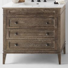 "Laurel 36"" W Wood Cabinet Vintage Café Vanity Base"