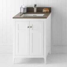 "Neo-Classic Briella 24"" W Wood White Cabinet Vanity Set"
