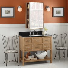 "Neo-Classic Newcastle 36"" W Wood Vintage Honey Vanity Set"