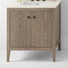 "Neo-Classic Sophie 30"" Wood Cabinet Vintage Honey Vanity Base"