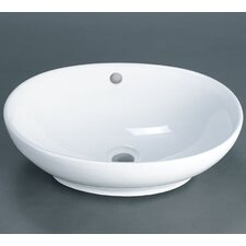 <strong>Ronbow</strong> Oval Ceramic Vessel Bathroom Sink with Overflow