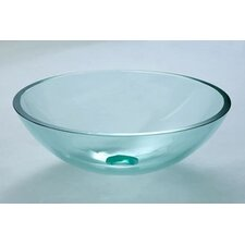 <strong>Ronbow</strong> Vessel Bathroom Sink with Tempered Glass