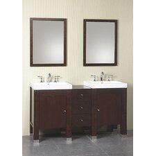 "Modular 59"" Drawer Bridge Bathroom Vanity Set"