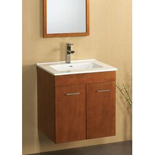 "Bella 24"" Single Wall Mount Bathroom Vanity Set"