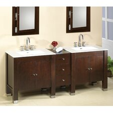 "Modular Drawer Bridge 77"" Bathroom Vanity Set"