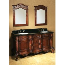 "<strong>Ronbow</strong> Vintage Bordeaux 60"" Antique Bathroom Vanity Set"
