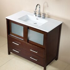 "Contempo Minerva 37"" Single Bathroom Vanity Set"