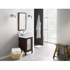 "<strong>Ronbow</strong> Contempo Powder Room 18"" Dark Cherry Cami Vanity with Ceramic Sinktop"