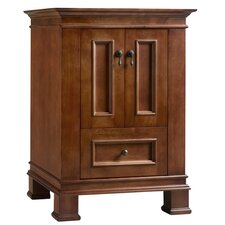 "Traditions Venice 24"" Wood Antique Style Black Vanity Base"