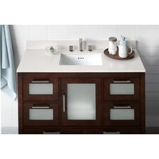 "Contempo 48.6"" Dark Cherry Athena Vanity Set"