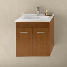 "Contempo 23"" Cinnamon Bella Vanity and White Larissa Integral Ceramic Sinktop"