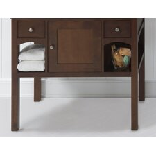 "Neo-Classic Langley 38.35"" W Standard Bathroom Café Walnut Vanity Base"