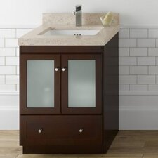 "Modular 30"" Shaker Bathroom Vanity Base with Glass"